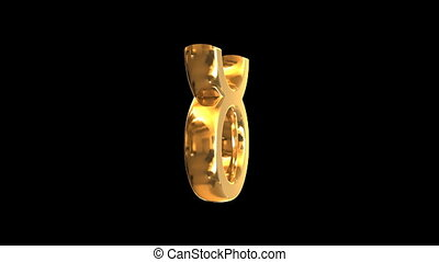 Rotating golden zodiac signs - Rotating 3D golden zodiac...
