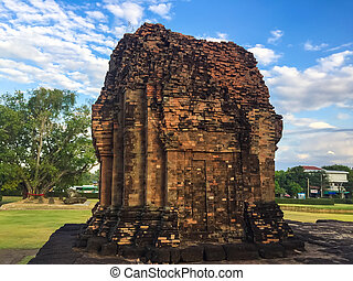 Khmer Castle in the temple of Thailand.