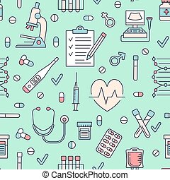 Medical seamless pattern , clinic vector illustration....