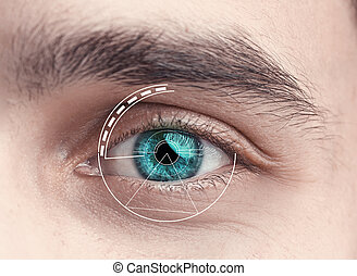 Digital Eye of a young man