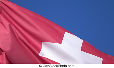 Video of flag of Switzerland in 4K - High quality video of...