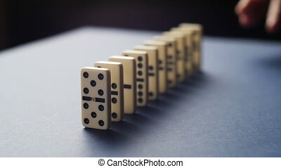 Stopping the domino effect concept for business solution,...