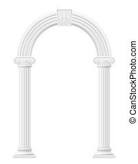 antique arch stock illustration isolated on white background