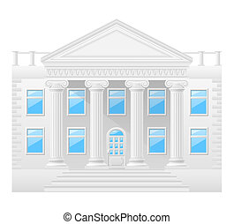 antique building stock illustration isolated on white...