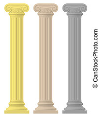 antique column stock illustration isolated on white...