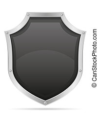 battle shield medieval stock illustration isolated on white...