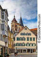 square in Esslingen am Neckar, Germany - Square in Esslingen...