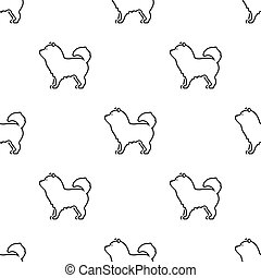 Chow-chow vector icon in black style for web - Chow-chow...