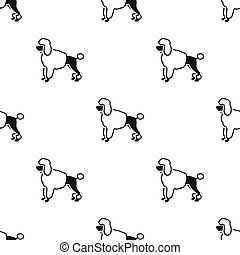 Poodle vector icon in black style for web