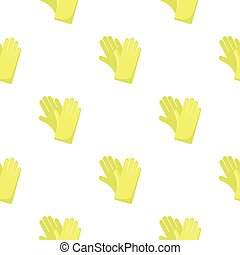 Rubber gloves cartoon icon. Illustration for web and mobile...