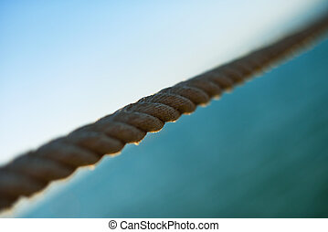 wire rope bisect sky and water