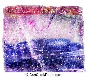 fluorita,  threecolor
