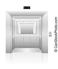 passenger elevator stock illustration isolated on white...