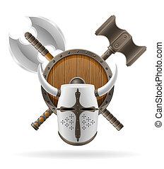 ancient battle weapons stock illustration - ancient battle...