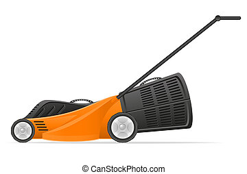 lawn mower stock illustration isolated on white background