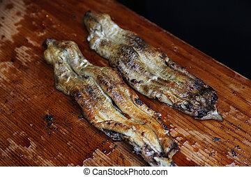grill eel in japanes restaurant