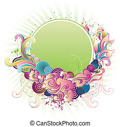 vector floral border - illustration of a floral border