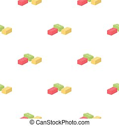 Building block cartoon icon. Illustration for web and mobile...