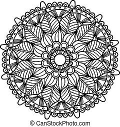 Vector image for adult coloring book Mandala Doodle...