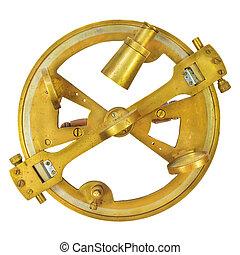 astrolabio, blanco, auténtico, aislado, náutico