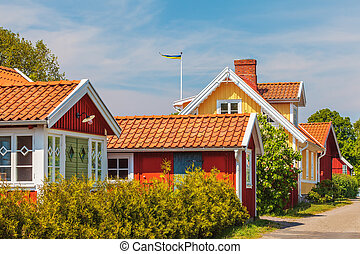 Old Swedish houses in Kristianopel - Old Swedish houses in...
