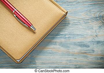 conceito, escritório, madeira, imagem, notepad, caneta,...