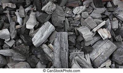 coals in a barbecue grill HD