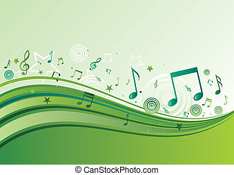 music background - horisontal music banners