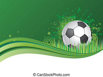 soccer background - green background with soccer ball