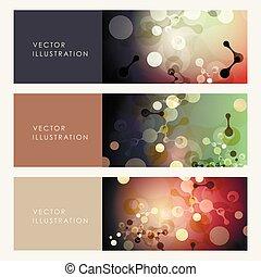 Abstract molecules design. Vector illustration.