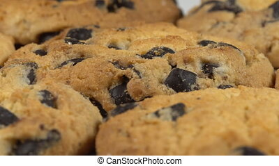 Biscuits with chocolate raisins - Biscuit Cookies with...