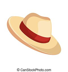 beach hat panama icon vector illustration design