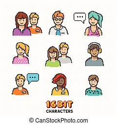 Retro 16-bit People Characters