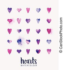 watercolour Heart Collection - A collection of love hearts...