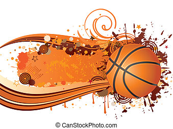 basketball background design - basketball sport design...