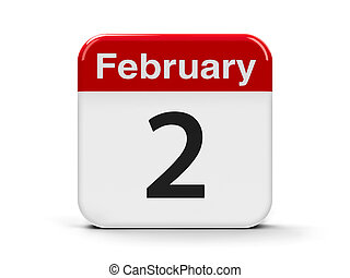 2nd February - Calendar web button - The Second of February...