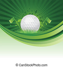 golf background - golf design elements,green background