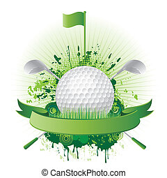 golf design elements - vector golf sport design elements