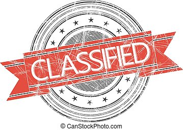 Classified stamp - Classified grunge rubber stamp on white
