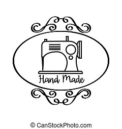 hand made design - hand made emblem with vintage emblem and...