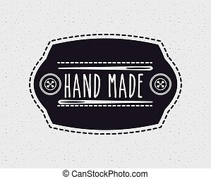 hand made design - emblem with decorative frame of hand made...