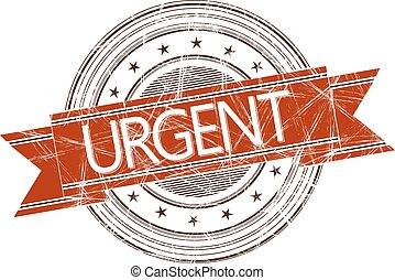 Urgent stamp - Urgent grunge rubber stamp on white