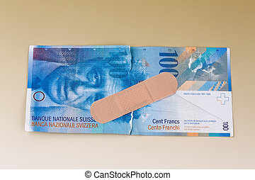 Swiss franc banknotes Currency of Switzerland