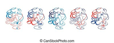 Colorful Ice Figure Skating Collection - Colorful ice figure...