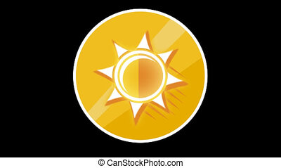Sun Flat Icon With Alpha Channel - We offer you a selection...