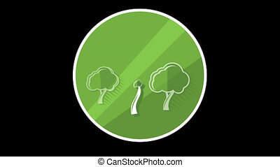 Tree Flat Icon With Alpha Channel - We offer you a selection...