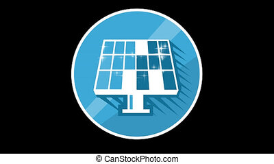 Solar Panels Flat Icon With Alpha Channel - We offer you a...