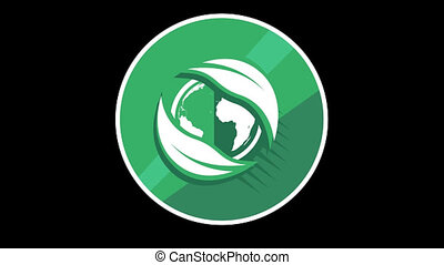 Green Planet Flat Icon With Alpha Channel - We offer you a...