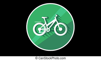 Bike Flat Icon With Alpha Channel - We offer you a selection...