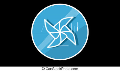 Windmill Flat Icon With Alpha Channel - We offer you a...